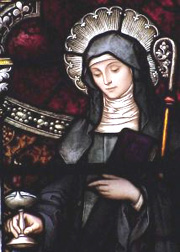 St. Brigid in stained glass