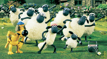 Shaun and the Flock, rejoicing