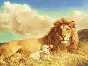 And the lion shall lie down with the lamb...