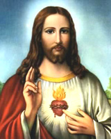 the sacred, healing heart of Jesus